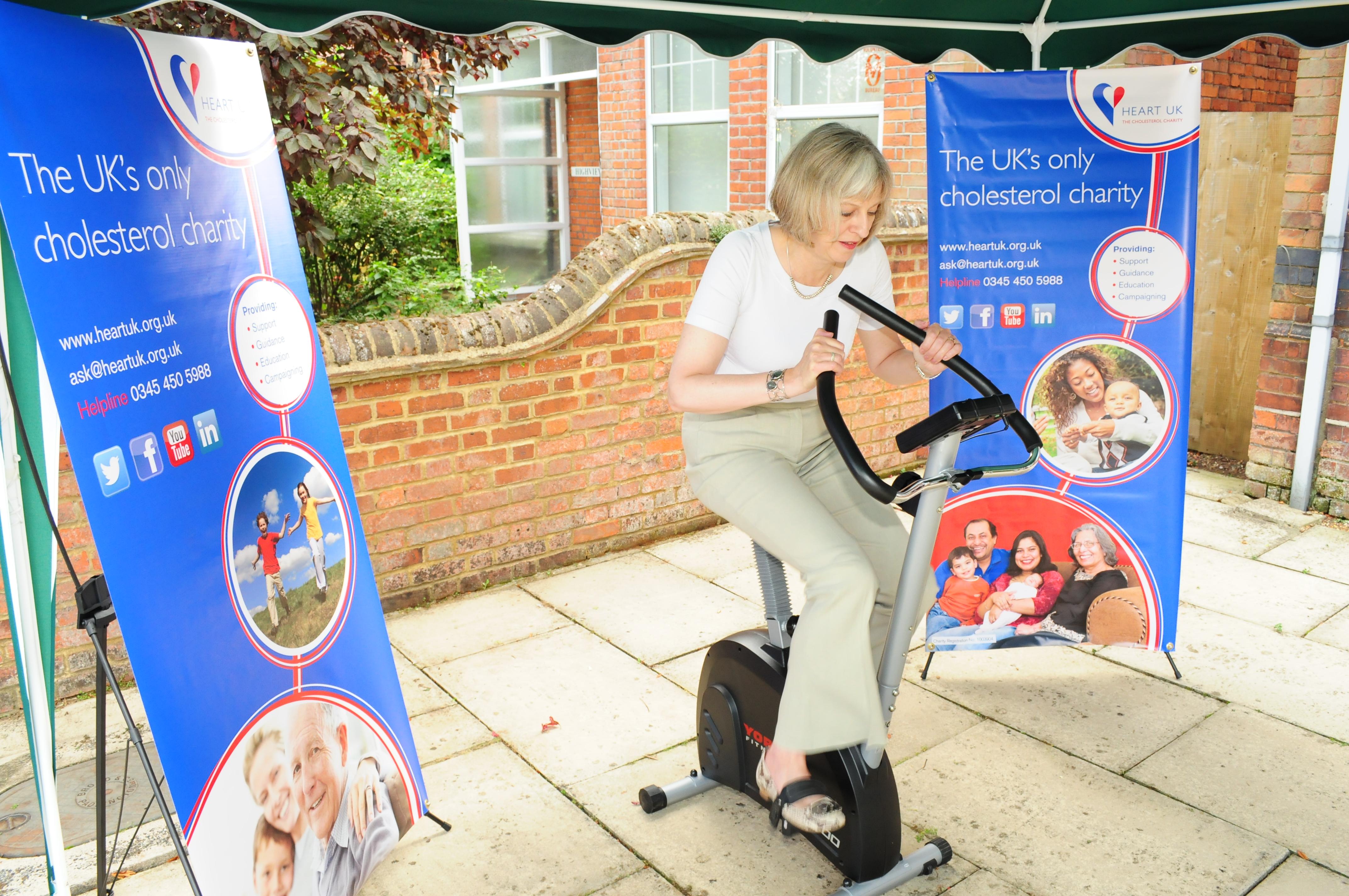 HEART UK, National Cholesterol Month, Theresa May